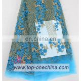 2016 china suppliers french beaded lace fabric ,hand beaded emibroidery lace fabric for wedding dress