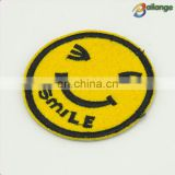 Smile face design Yellow color fashion cute children's wear embroidered patches