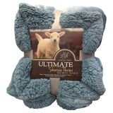 Large Warm Thick Sherpa Throws Blanket weighted Coverlet for Bed or Couch