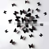 Black Butterfly Wall Stickers Art Decal PVC Butterflies Home DIY Decor SD102                                                                         Quality Choice