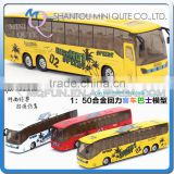 Mini Qute 1:32 kid Die Cast pull back alloy music Double-decker Bus vehicle model car electronic educational toy NO.MQ 8070-30