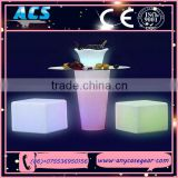 ACS night club led cube/led cube chair/led outdoor light cube