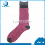 Customized men's and women's top quality Australia Merino wool long dress terry lined socks