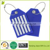 Wholesale Travel PVC Luggage Suitcase Tags with Steel Cable Wire