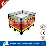 fruit and vegetable movable supermarket promotion cage liquor store shelving JIEBAO