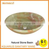 Made In China green jade marble garden corner granite sink                                                                         Quality Choice