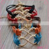 2015 trendy jewellery wrap bracelet of leather for couple All handmade exquisite bracelet