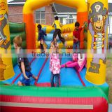 Chinese manfacture inflatable car cartoon bounce house with slide/inflatable jumping castle