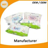 High quality 80pcs baby wipes alcohol free antiseptic wipes