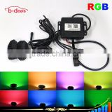 B-deals Multi Color RGB Mini under car light led rock light for Jeep with Bluetooth remote