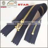 #3 metal close end zipper for jeans