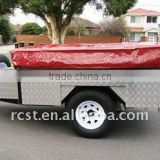 7X4ft heavy duty off road soft floor powder coated camper trailer and camping trailer with aluminum layers
