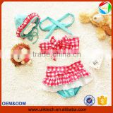 2016 New ruffle two pieces baby girl bathing suit for summer girl swimming suit wholesale swimming wear bikini girl (ulik-S020)