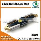 High quality 31mm 36mm 39mm 42mm festoon CANBUS C5W 2 LED 3623 SMD license plate dome light