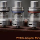 Best RTA Tank from Wotofo!! Serpent Mini RTA Tank with Top filling and big RTA Deck, factory price.