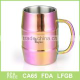 Hot sell manufacturer double wall custom moscow mule copper beer mug