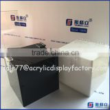 Wholesale black acrylic donation box with lock acrylic donation box with brochure holder