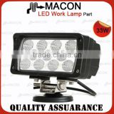 Super bright 12V LED work light, aluminum housing 33W LED work lights, truck jeep offroad tractor SUV boat LED headlights