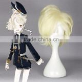 Wholesale Anime 30cm Short Curly Gokotai Wig Cosplay Beige Synthetic Cosplay Costume Hair Wig