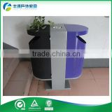 Outdoor wood plastic composite Street Litter Bin Purple Waste Bin