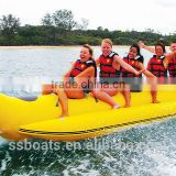 Wholesale High Quality PVC Material inflatable banana boat for Water Toys