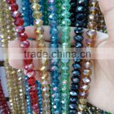 2015 fashion loose rondelle faceted AB glass beads for road marking