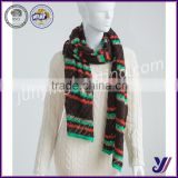 High quality comfortable acrylic jacquard knitted winter infinity scarf pashmina scarf (can be customized)