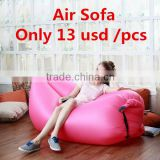fabric material and living room furniture sofa bed inflatable sleeping nylon 210T material inflatable air sofa