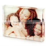 Clear acrylic photo frame acrylic block acrylic block photo frame                                                                         Quality Choice