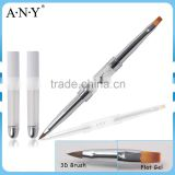 ANY Rhinestone Double Side Using Nail Design 3D Flat Nail Art Brush Angular