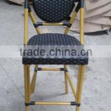bamboo bar chair, bistro counter chair, rattan cafe chair