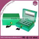 Fashionable Custom Green Wooden Jewelry Sets Box & Locking Wood Jewelry Display Boxes