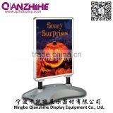 Outdoor Whirlwind a0.a1aluminum poster frame forecourt sign size customized water base pavement sign