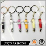 Hot Selling Metal Pen Keychain Gift set,Crystal Key Chain/