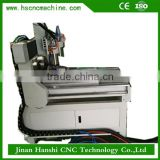 Jinan Hanshi 4 axis jade stone lathe wood cutting craft milling small cnc router 6090 for sale