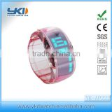 High tech silicone led watch small face with strong function