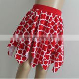 Wholesale St.Patrick's Day red clover cotton mini irregular skirt for girls