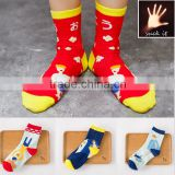 New trendy socks Girl or boy socks red girl tube socks sexy young girls tube socks