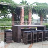 2015 Environmental Friendly Outdoor Bar Furniture Leisure Style Restaurant Garden Bar Table and Chair