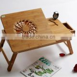 2015 modern bamboo portable side table for sofa and bed