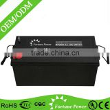 Maintenance free AGM battery deep cycle GEL battery 12V200AH for UPS & solar power system