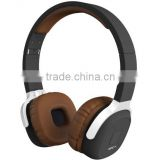 New Bee brand NFC Stereo Bluetooth Headset with App Wireless Bluetooth 4.1v Headphone Stretchable and Foldable Brown Color