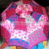 Amazing Bright Colorful Vintage banjara Fabric hand embroidered parasol Indian Sun umbrella