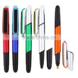 China Wholesale Multi-function 4 in 1 fluorescent marker Highlighter Stylus screen cleaner ball-point Pen