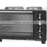 30L cheapest price toaster oven with two hotplates convectional oven for bread making for sale