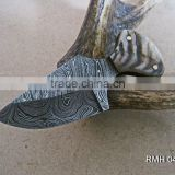 A HUNTER SHAPE, STRONG GRIP SMALL AND SLIM HANDLE DAMASCUS STEEL HUNTING JUNGLE SKINNER KNIFE