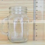 Clear Traditional Style Wide Mouth Glass Beer Cup/ Tea Cup/ Coffee Cup with Glass Handle for Wholesale