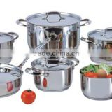 12PCS stainless steel electrical induction and halogen cooker