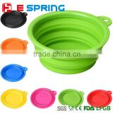 New Arrival Foldable Silicone Pet Dog Cat Bowls and Flying Disc