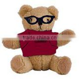 embroidery imprinted promotional logo black glasses bear dress scarf beanbag bandana t-shirt bib tie ribbon animal toys